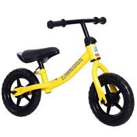 儿童平衡车滑行车1-2-3-6岁宝宝滑步车小孩无脚踏双轮溜溜自行车 黄色 10寸适合2-5岁