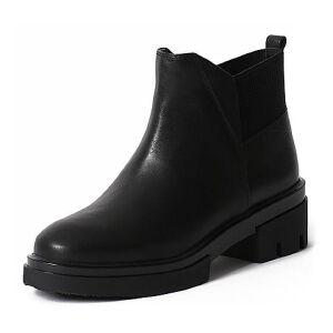 Teenmix/天美意专柜同款小牛皮女短靴6R540DD6