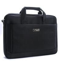 贝多美大容量防水手提文件袋公文包电脑包会议包 6685 黑色
