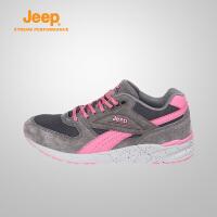 【特惠价】Jeep/吉普 女士耐磨防滑厚底减震运动徒步登山鞋J731081201
