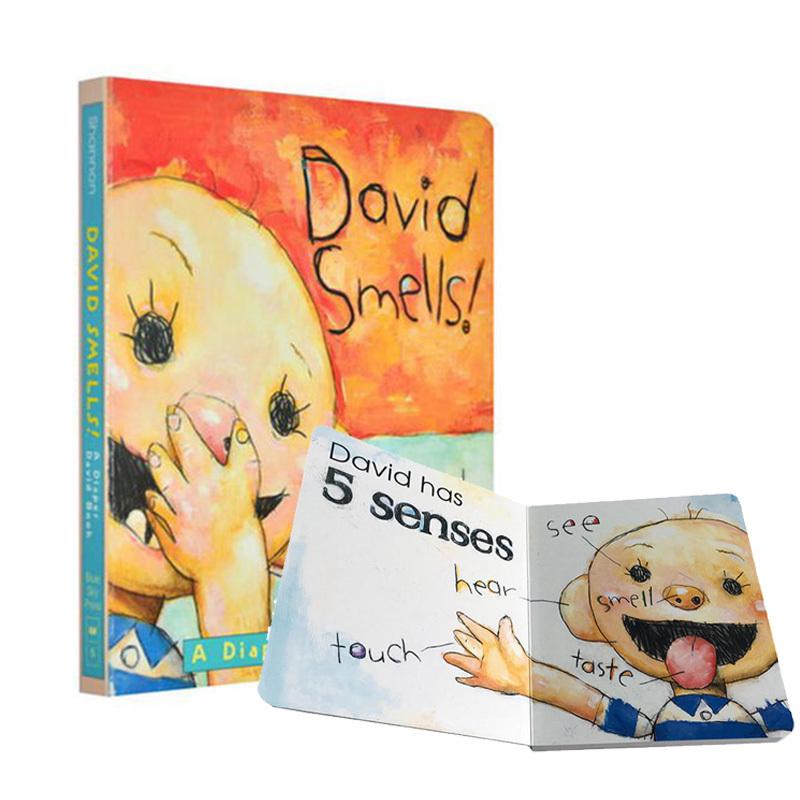 英文原版绘本进口童书David Smells!: A Diaper 大卫宝宝纸板书