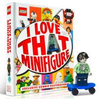 【全店300减100】英文原版 LEGO? I Love That Minifigure! 乐高 我爱人仔 乐高人仔百科