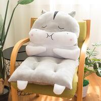 仓鼠坐垫靠垫一体椅垫办公室冬季椅子垫子被子两用软座垫