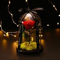 永生花礼盒玻璃罩小王子的玫瑰花带灯女友七夕求婚生日情人节礼物 小王子(配灯 无书)