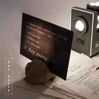 意光语藏字英文卡片个性道歉卡片贺卡定制礼物送情侣生日礼物