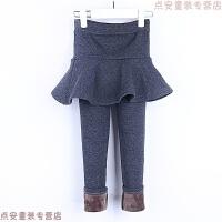 女童裙裤加绒加厚儿童百搭外穿打底裤小童高腰保暖假两件裤裙