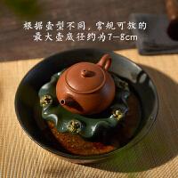 汉唐茶具 喷水茶宠摆件 可养 创意紫砂 茶玩茶盘茶艺茶台茶桌摆件