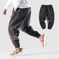 2018潮流欧美嘻哈风男裤子韩版新款街舞个性束脚裤运动卫裤