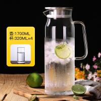 冷水壶玻璃耐高温套装耐热防爆家用凉水杯大容量透明茶壶豆浆扎壶
