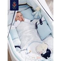 婴儿床床围套件全棉宝宝床上用品床围全棉儿童防撞可拆洗