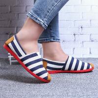 春季新款布鞋女鞋平底单鞋浅口百搭一脚蹬休闲妈妈鞋工作鞋