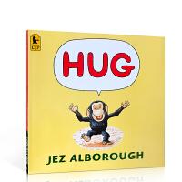 英文原版绘本 HUG 拥抱 获格林威大奖 作家 Jez Alborough 无私父爱母爱亲情商启蒙教育 英语基础入门熏