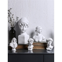 创意人物石膏雕像雕塑摆件家居客厅电视柜酒柜装饰品桌面摆设