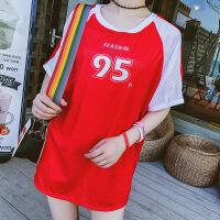 性感泳衣女士平角分体三件套半袖运动温泉韩国小香风小胸聚拢泳装 红色