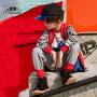 小虎宝儿男童外套洋气韩版2019春秋新款儿童纯棉拼接棒球服中大童