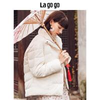 【清仓3折价299.7】Lagogo/拉谷谷2019冬季新款纯白之恋羽绒服HCYY239C73