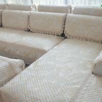 四季通用亚麻布艺沙发垫欧式田园沙发坐垫防滑沙发套