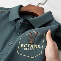 伯克龙 短袖POLO衫男士纯棉T恤夏季新款翻领纯色保罗衫青中年男装上衣 Z7899