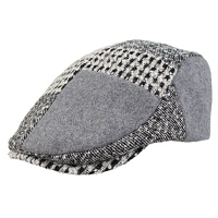 男冬天潮帽毛呢贝雷帽冬季男士帽子时尚鸭舌帽