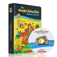 英文原版Magic School Bus Phonics Fun 神奇校车12本附CD 儿童趣味自然拼读科普故事绘本 亲子阅读3-8岁图画书