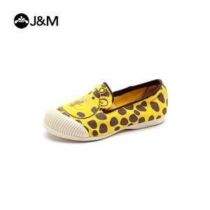 jm快乐玛丽儿童鞋春季女童公主鞋低帮休闲鞋软底童鞋卡通鞋帆布鞋