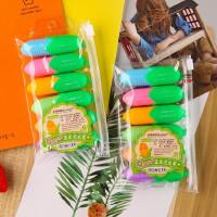 创意可爱玉米造型糖果色荧光笔涂鸦笔办公学习用品标记笔6色套装荧光笔