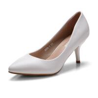 2017女鞋新款高跟鞋细跟性感尖头欧美浅口OL鞋子2016春秋季单鞋女888-1ZZM支持