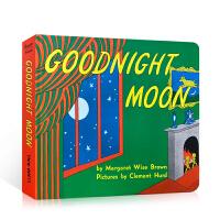 英文原版绘本 Goodnight Moon 晚安月亮 70周年纪念纸吴敏兰廖彩杏书单推荐 经典启蒙英语认知亲子读物 睡