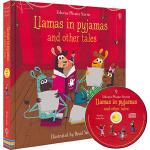 英文原版 Usborne Llamas in Pajamas and Other Tales Phonics 自然拼读