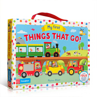 英文原版 My First Things That Go! 汽车造型书礼盒装4册 儿童启蒙交通工具认知纸板图画书 3-6岁