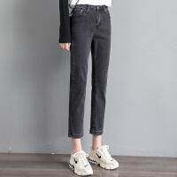 高腰牛仔裤女小脚2021年新款春季显瘦修身显高紧身铅笔裤