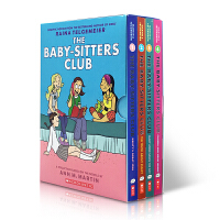 英文原版 保姆俱乐部 The Baby-Sitters Club Graphix #1-4 Box Set Raina
