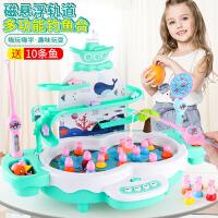 儿童小猪佩琪钓鱼玩具池套装宝宝磁性鱼1236岁佩奇电动益智男女孩