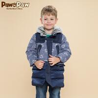 【3件2折 到手价:340】Pawinpaw宝英宝卡通小熊童装冬季款男童羽绒服