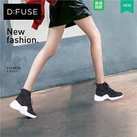 D:Fuse/迪芙斯秋季圆头中跟休闲时装短靴DF83116826