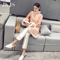 旗袍冬款加厚少女款2018新款少女中国风女装加厚保暖甜美中式改良唐装棉袄 粉色预售5天