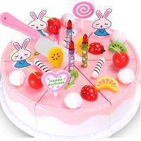 会唱歌的生蛋糕玩具女孩创意手工制作购物车1-3岁宝宝玩具手推车 蛋糕44件套 电商包装