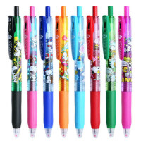 日本ZEBRA斑马JJ15限定款史努比SARASA彩色按动中性笔可爱卡通8色学生书写考试文具标记填色手帐水笔0.5mm
