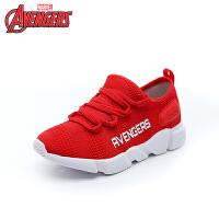 【2件3折后到手价:104.4元】迪士尼Disney童鞋18新款儿童运动鞋漫威织布系带鞋 舒适透气户外休闲鞋 (9-1