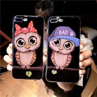 苹果6plus手机壳6s情侣卡通硅胶iphone8全包7p防摔女款猫头鹰X10