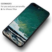 文艺创意苹果7plus手机壳6s潮iphone6个性油画男女款硅胶全包防摔