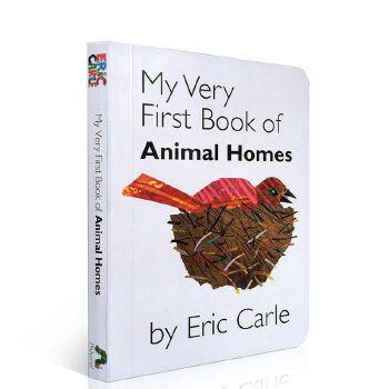 英文原版绘本 My Very First Book of Animal Homes 我的动物家园低幼启蒙儿童学习英语辅导训练图画故事正版进口图书 卡纸板书