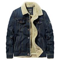 冬季棉衣男士青年大码加绒加厚牛仔夹克工装外套韩版军装