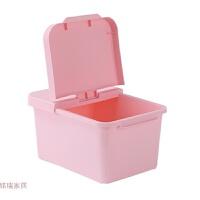 加厚储藏收纳盒带盖米桶储米箱米缸防虫装米桶储物五谷杂粮面粉桶 4KG艺塑心 粉色小号
