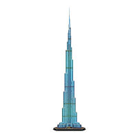 带灯发光 哈利法塔 迪拜塔 乐立方3d立体拼图建筑diy纸模型
