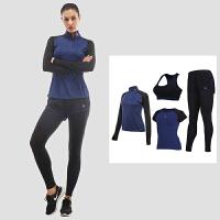运动套装女秋冬长袖瑜伽服速干透气健身房训练跑步显瘦健身服四件套