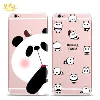 苹果6s手机壳熊猫宝宝硅胶软壳iphone6plus防摔卡通保护套