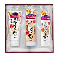 日本进口sana莎娜 护肤礼盒套装 豆乳洁面乳+浓润化妆水+乳液 洗面奶爽肤水乳液礼盒套装
