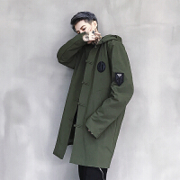 新款秋冬时尚复古潮流中国风原创时尚青年夹克风衣外套