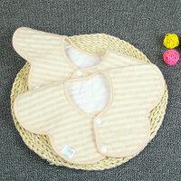 彩棉婴儿口水巾棉防水360可旋转宝宝圆形八角围嘴围兜M